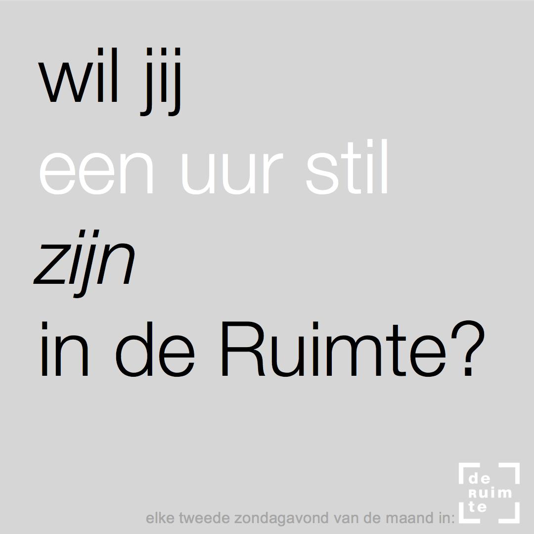 een uur stil zijn in de Ruimte - coachingstudio-deRuimte.nl